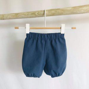 Bloomer bleu marine en coton lavé