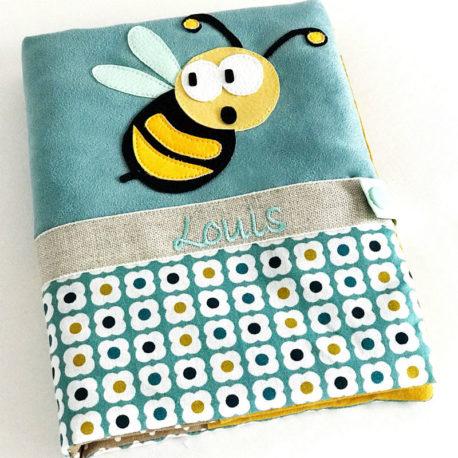 abeille brodée