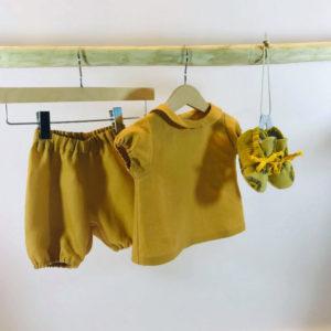 Bloomer jaune en lin