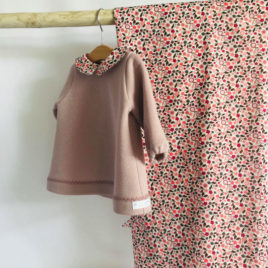 Robe rose en lurex et Liberty
