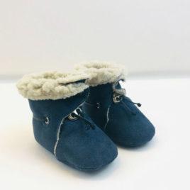 Chaussons fourrés bleu