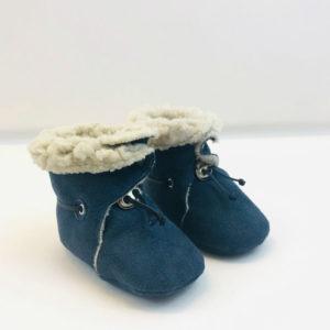 Chaussons fourrés bleus