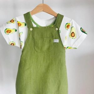 Salopette bloomer et t-shirt avocat