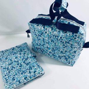 Trousse de toilette Liberty bleu