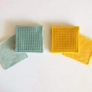 Lingettes lavables nid d'abeille